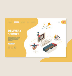 Worldwide delivery drones smart delivery vector
