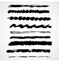 Brush lines set vector image vector image