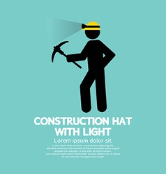 Construction Hat With Light Symbol vector image