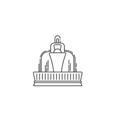 fountain icon linear design isolated on vector image