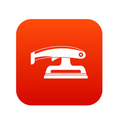 fret saw icon digital red vector image vector image