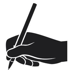 Hand writing vector