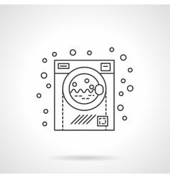 Washing machine flat line design icon vector image vector image