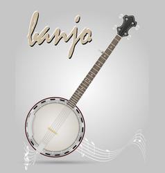 Banjo musical instruments stock vector