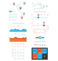 elements of infographics and user interface vector image vector image