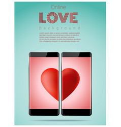 online dating concept love has no boundaries vector image