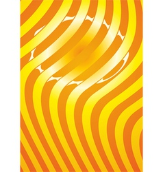 orange striped background vector image vector image