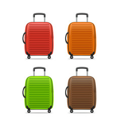 realistic detailed color case or suitcase vector image