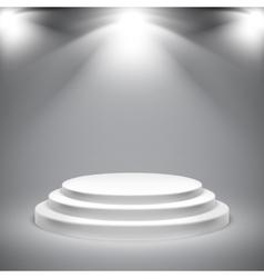 Round White Podium vector image
