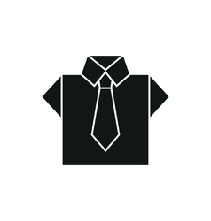 shirt icon on white background vector image