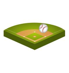 baseball diamond field icon vector image