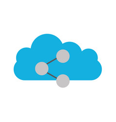 cloud computing with share symbol isolated icon vector image vector image