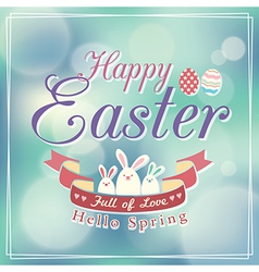 Easter card design template vector image vector image