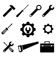 icons tools vector image