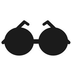 round frame sunglasses icon vector image vector image