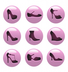 fashion shoes icon vector image vector image