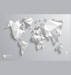 3d polygonal world map vector