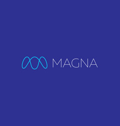 Abstract linear monogram letter m logo icon design vector