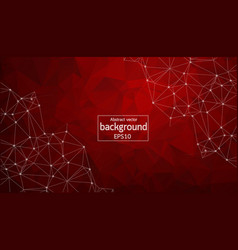 abstract red geometric polygonal background vector image