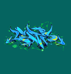abstract word lets graffiti style font lettering vector image
