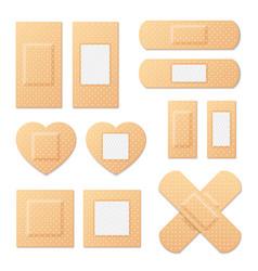adhesive bandage elastic medical plasters vector image