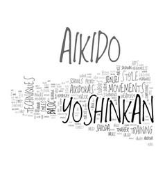 Aikido yoshinkan text word cloud concept vector