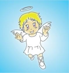 Angel flying vector