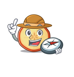 Apple chips stylized explorer having a compass vector