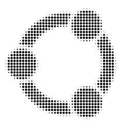 Black pixel cooperation icon vector