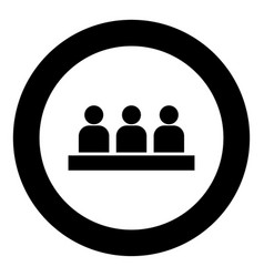 board meeting - business concept icon black color vector image