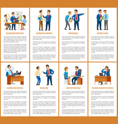 business meeting and dismissal of worker in office vector image