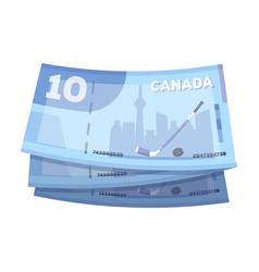 canadian dollar canada single icon in cartoon vector image
