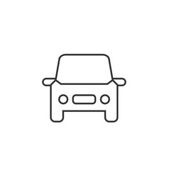 car auto line icon simple modern flat for mobile vector image