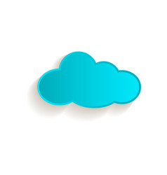 cartoon cloud icon symbol isolated vector image