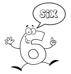 Cartoon digits vector