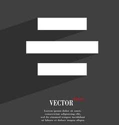 Center alignment icon symbol Flat modern web vector