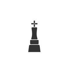 chess king icon flat vector image