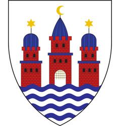 Coat of arms of copenhagen denmark vector