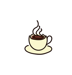 coffee cup icon style flat iconic symbol vector image