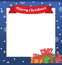 collection christmas frame design art vector image
