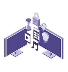 Computers and informatic items vector