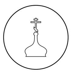 cupola ortodox church icon black color simple vector image