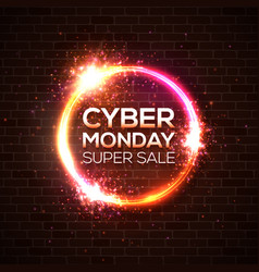 cyber monday super sale discount card concept vector image