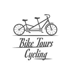 cycling logotype vector image