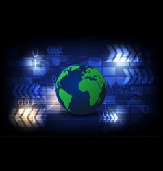 Digital modern high technology of the future world vector