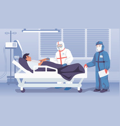 doctors in hospital medical workers in personal vector image