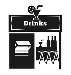 Drink street kiosk icon simple style vector