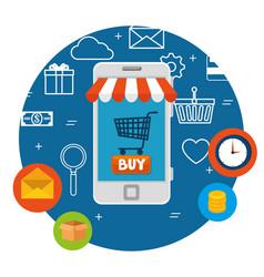 E commerce concept online shopping vector