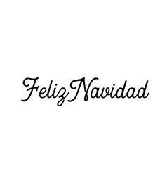 Feliz Navidad words Lettering vector image