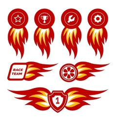 Flame emblems vector